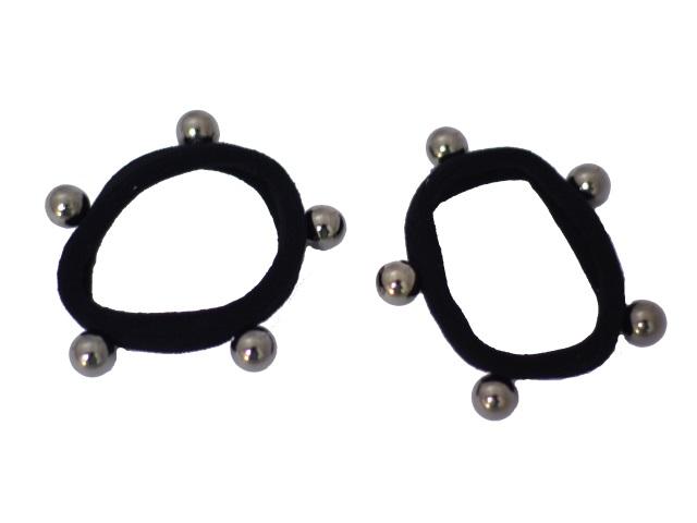 Резинка черная с бусинами 10 шт. 171079-2
