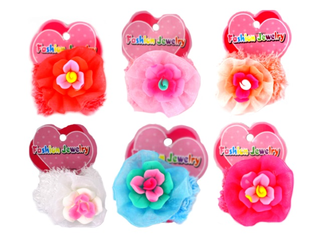Резинки Шляпа Цветок цветные 1707117-3