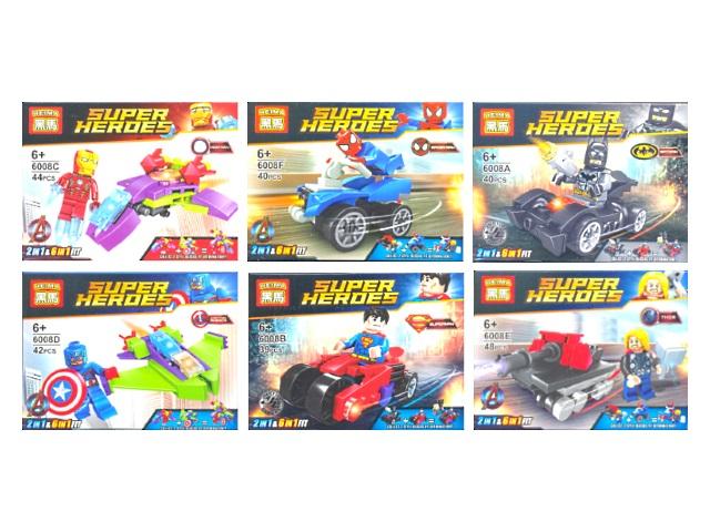 Конструктор  39-48 деталей Super Heroes 6008/12