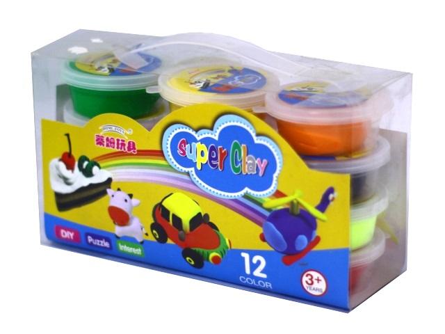 Пластилин для лепки 12 цветов Super Clay 1812