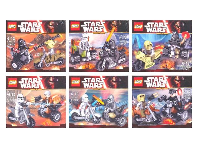 Конструктор  51-56 деталей Stars Wars 130-1-6/6