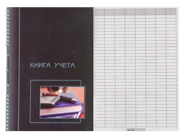 Книга учета пустографка 50л м/обложка со шнуровкой 2314