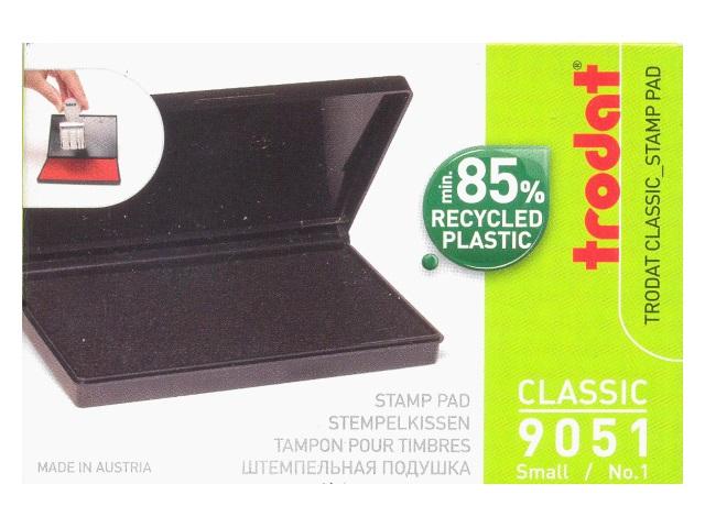 Подушка штемпельная Trodat черная 5*9 см 9051