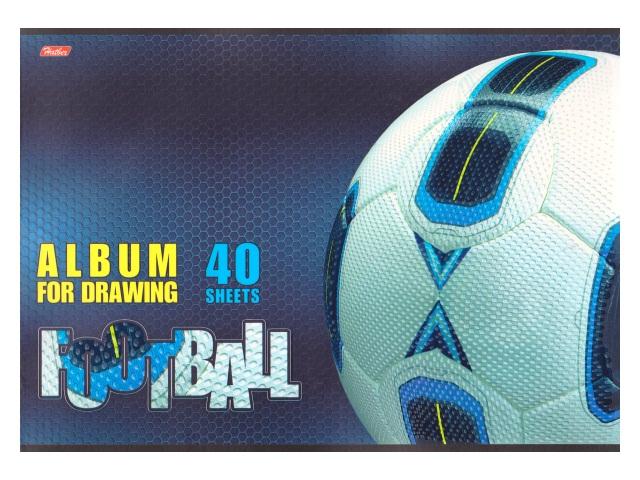 Альбом 40л А4 скоба Спорт клуб 3D 40А4лолВ_16960