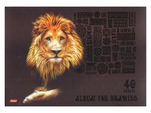 Альбом 40л А4 скоба King Lion 3D 40А4лолВ_15914