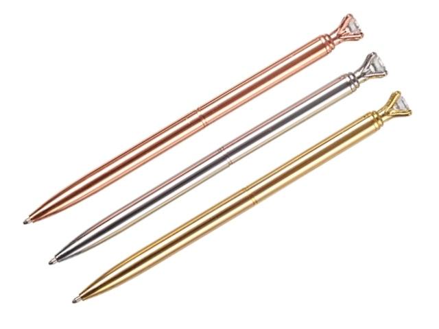 Ручка шариковая поворотная Mazari Jano с кристаллом металл синяя 0.7мм M-7364-70