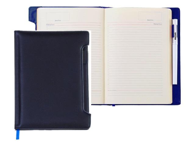 Ежедневник А5 кожзам 136л синий Mazari M-3592-91