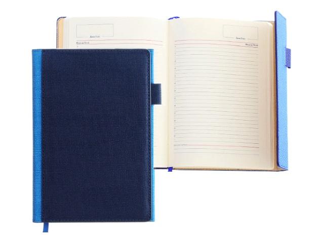 Ежедневник А5 кожзам 136л сине-голубой Mazari M-3594-75
