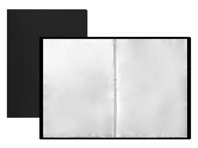 Папка с файлами  80ф А4 черная Mazari M-4015