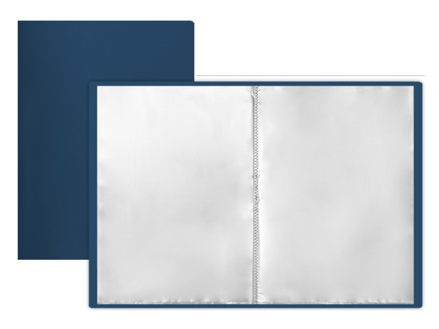 Папка с файлами  80ф А4 синяя Mazari M-4016