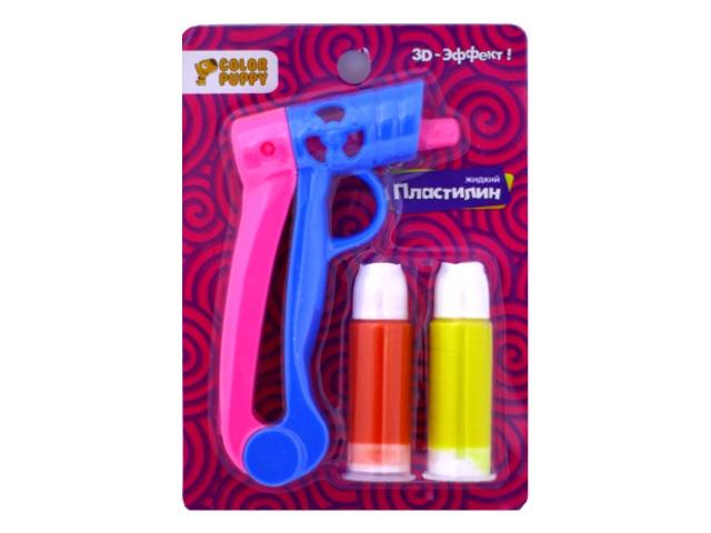 Жидкий пластилин с пистолетом 2 цвета 95332