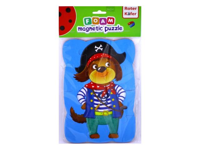 Пазлы   12 деталей Собака магнитные RK1302-08