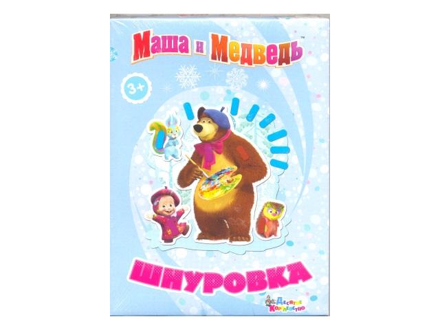 Шнуровка картонная Маша и Медведь Картина маслом 01768