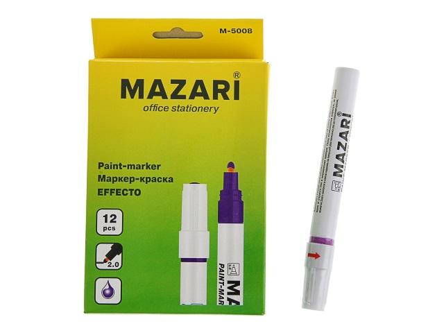 Маркер краска Mazari фиолетовый 2мм М-5008/12