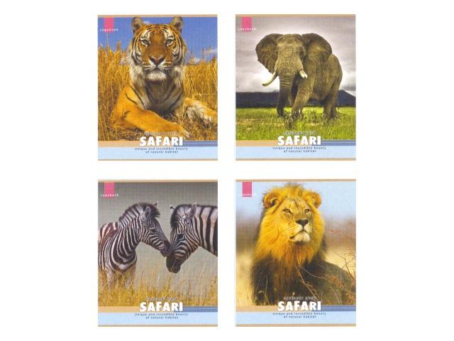 Тетрадь  36 л  #  Сафари Величественные животные 36-0080