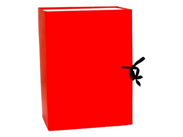 Папка архивная бумвинил на завязках А4 15см красная КАрхБ/В-150К