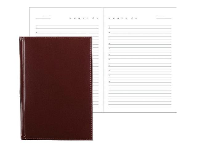 Ежедневник А5 кожзам 160л коричневый Attomex 2034625