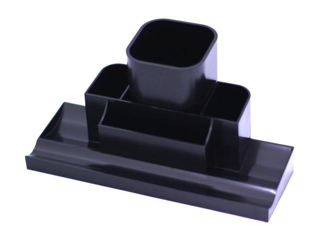 Подставка для ручек  7 отделений Tower черная DeVente 4102504