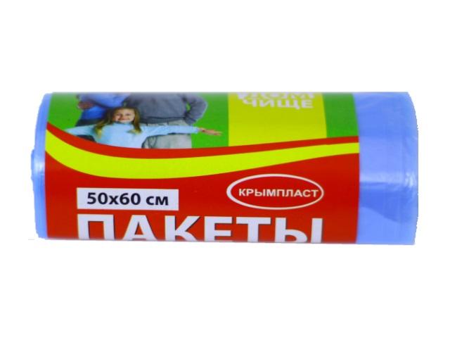 Пакеты для мусора  35л  30 шт. синие Крымпласт 41/001