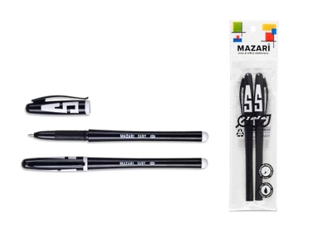 Ручка гелевая Mazari для ЕГЭ черная 0.5мм 2 шт. M-5505-2орр-71