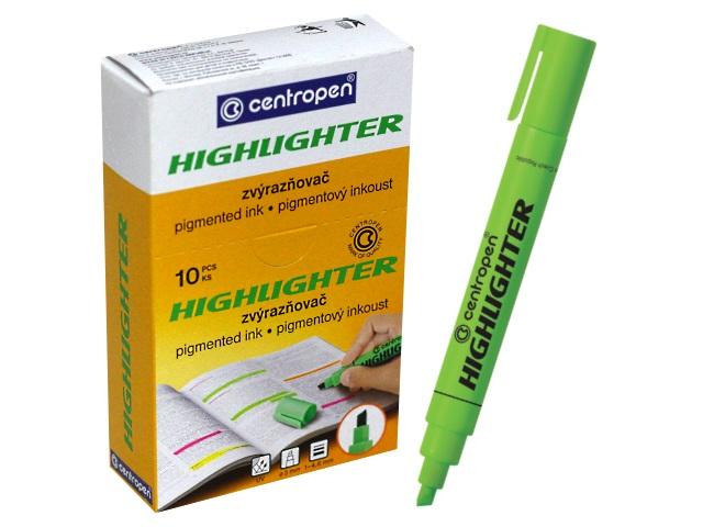 Маркер текстовый 8852 Centropen зеленый скошенный 1-4.6мм