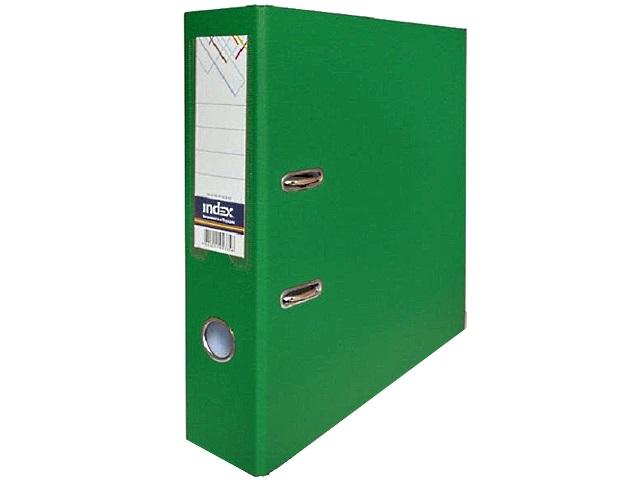 Регистратор  А4/80 Index зеленый с металлической окантовкой 8/50 PP NEW GN