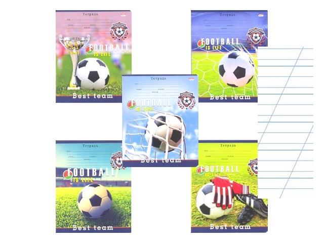 Тетрадь 12л косая с доп.линией Футбол Prof Press 12-9459