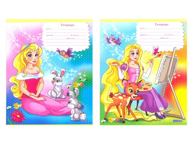Тетрадь 12л клетка Волшебные принцессы Legend 12-3664