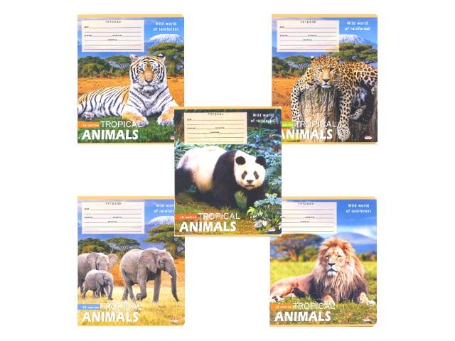 Тетрадь 18л линия Дикие животные Prof Press 18-9580