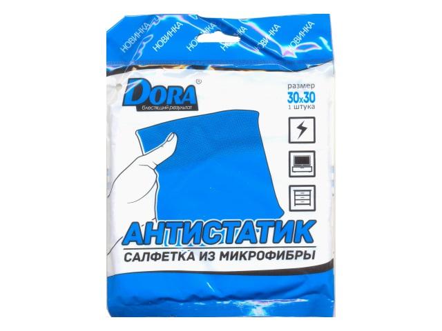 Салфетка микрофибра 30*30 см Антистатик Дора