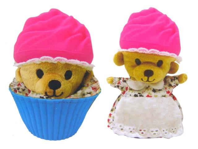 Мягкая игрушка Медвежонок в капкейке 10см 1610033