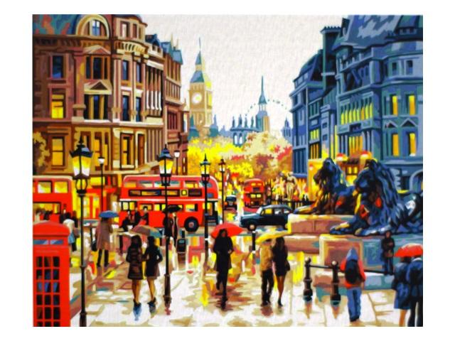 Картина по номерам 40*50см Осень в Лондоне МосФа 7C-0017