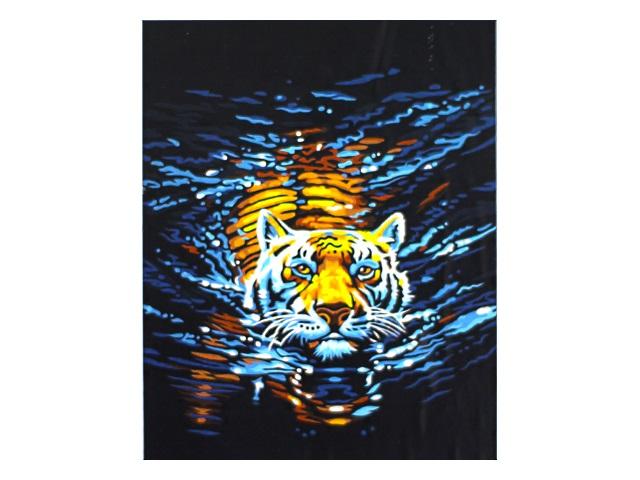 Картина по номерам 40*50см Плывущий тигр МосФа 7C-0014