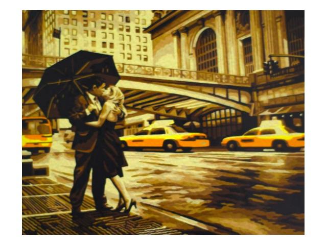 Картина по номерам 40*50см Романтика Нью-Йорка МосФа 7C-0115