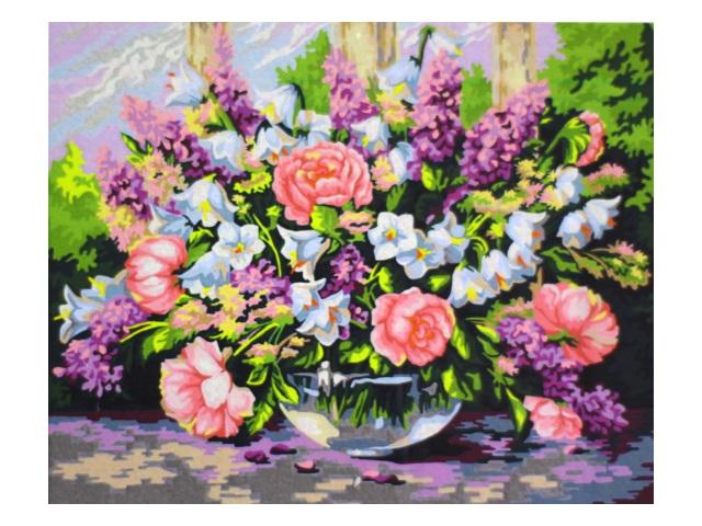 Картина по номерам 40*50см Садовый букет МосФа 7C-0241