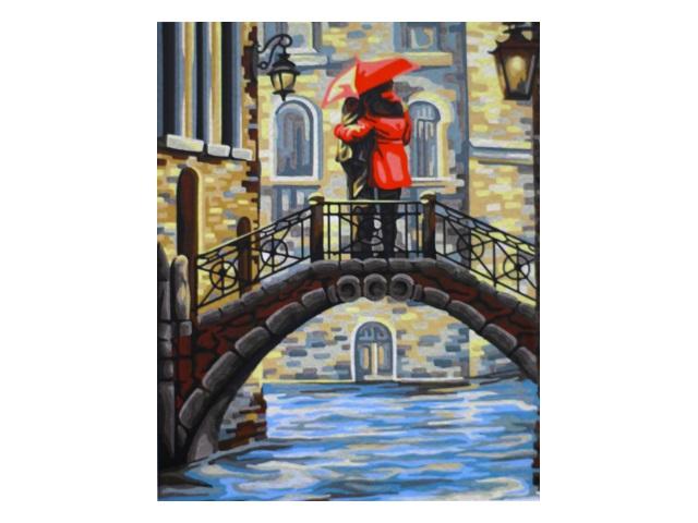 Картина по номерам 40*50см Свидание на мосту МосФа 7C-0226
