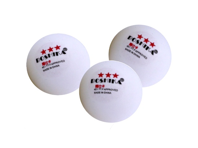 Мяч для настольного тенниса белый 63643