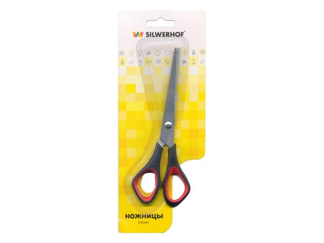 Ножницы 16 см прорезиненные ручки Silwerhof 450056