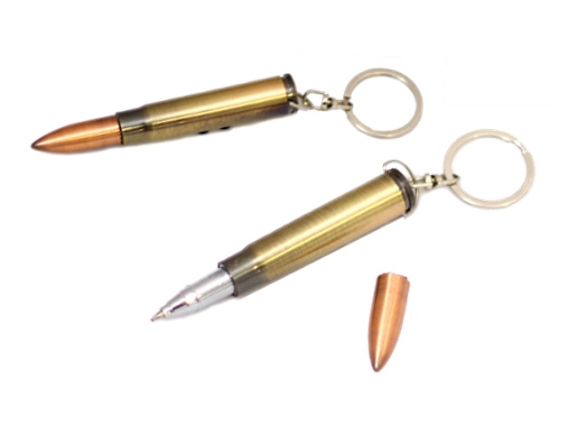 Брелок-ручка с фонариком и лазером Пуля 180154-12
