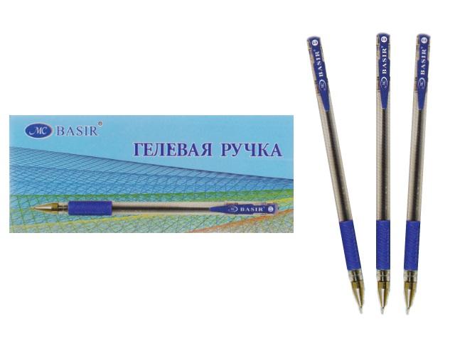 Ручка гелевая Basir МС-1266 синяя 0.5мм