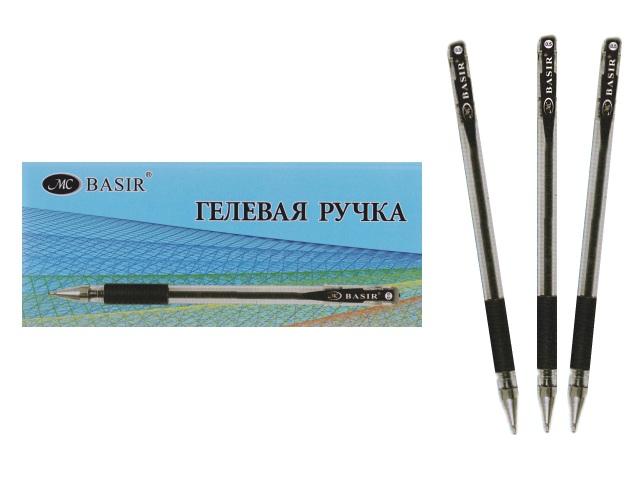 Ручка гелевая Basir МС-1266 черная 0.5мм