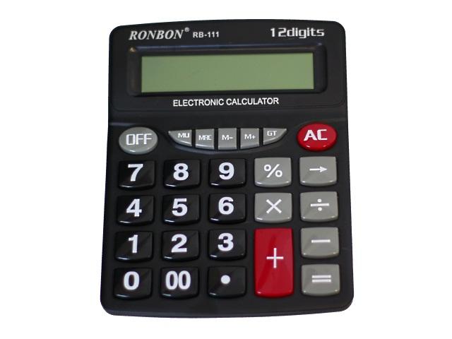 Калькулятор 12-разрядный Ronbon черный 20.5*16.5*4.5 см RB-111
