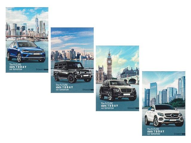 Блокнот А7 скоба м/обложка 16л Авто и города Prof Press Б16-5255