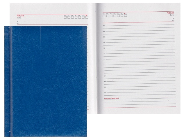 Ежедневник А6 кожзам 160л Виладж синий Prof Press 160-4220