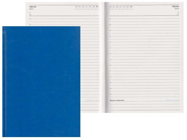 Ежедневник А5 кожзам 128л Виладж синий Profit 128П-1867