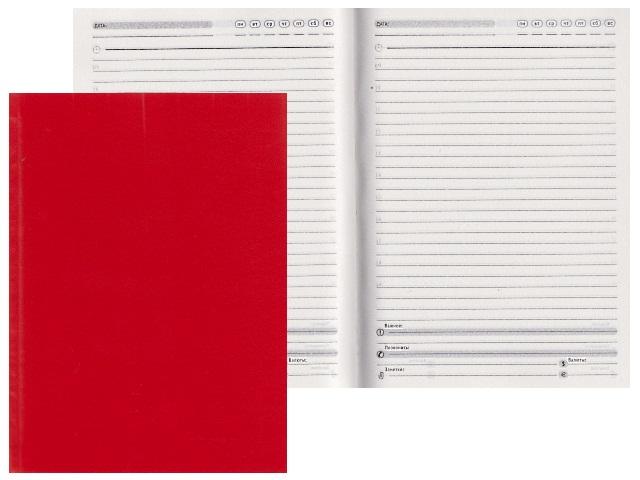 Ежедневник А5 бумвинил 136л красный Prof Press 136БВ-9088
