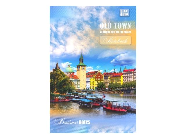 Книга канцелярская 200л Город с яркими крышами 200-2595