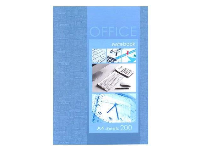 Книга канцелярская 200л Офисная классика голубая 200-2596