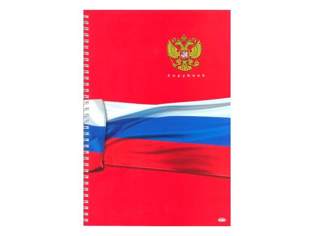 Книга канцелярская  80л Prof Press спираль Российский триколор 80-8095
