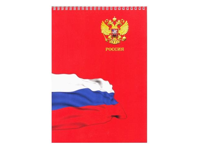 Блокнот А4  80л спираль м/обложка Россия №2 Prof Press Б80-2723